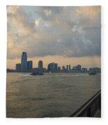 View From Battery Park City Fleece Blanket