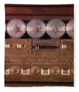 17th Century Calculating Machine Fleece Blanket