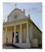 1840s Cataldo Mission - Idaho State Fleece Blanket