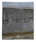 1886 God Is Love Stone Fleece Blanket