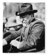 Theodore Roosevelt Fleece Blanket