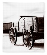 1900 Wagon Fleece Blanket