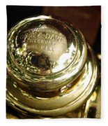 1907 Stanley Steamer - Top View Brass Tail Light Fleece Blanket