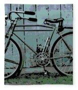 1918 Harley Davidson Bicycle Fleece Blanket