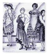 1920s British Fashions Fleece Blanket