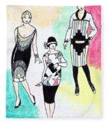 1920s Gals 3 Fleece Blanket