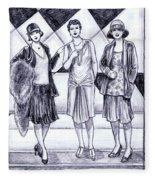 1920s Styles Fleece Blanket