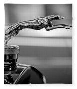1925 Lincoln Town Car Hood Ornament Fleece Blanket