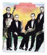 1927 New Yorkers Jazz Band Fleece Blanket