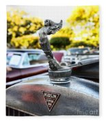 1928 Hudson Super Six Roadster Hood Ornament Fleece Blanket