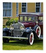 1931 Cadillac V12 Fleece Blanket