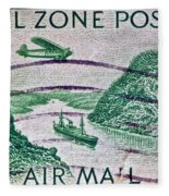1931 Canal Zone Stamp Fleece Blanket