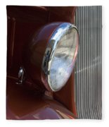 1934 Ford Headlight And Grill Fleece Blanket
