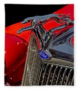 1936 Ford Model 48 Emblem Fleece Blanket