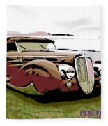 1938 Delahaye Cabriolet Fleece Blanket