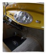 1938 Ford Roadster Dashboard Fleece Blanket
