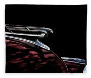 1940 Chevy Hood Ornament Take 2 Fleece Blanket