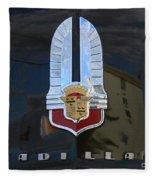 1941 Cadillac Hood Insignia Fleece Blanket