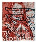 1944 Netherlands De Ruyter Stamp - Rotterdam Cancelled Fleece Blanket