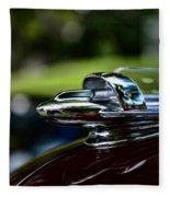 1947 Chevrolet Hood Ornament Fleece Blanket