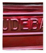 1947 Studebaker Tail Gate Cherry Red Fleece Blanket