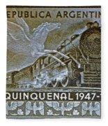 1951 Republica Argentina Stamp Fleece Blanket