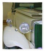 1952 Mg Roadster  Side View Fleece Blanket