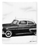 1953 Chevrolet Post 2 Dr Sedan Fleece Blanket