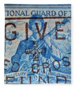 1953 The National Guard Of The U. S. Stamp Fleece Blanket
