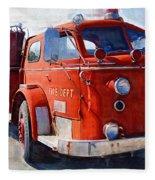 1954 American Lafrance Classic Fire Engine Truck Fleece Blanket