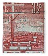 1954 Centenary Of Australian Telegraph Stamp Fleece Blanket