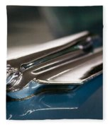 1955 Cadillac Eldorado 2 Door Convertible Fleece Blanket