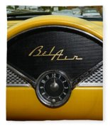 1955 Chevy Belair Clock Fleece Blanket