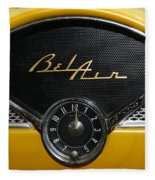 1955 Chevy Belair Clockface Fleece Blanket