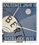 1957 - 1958 East German Sputnik Stamp Fleece Blanket