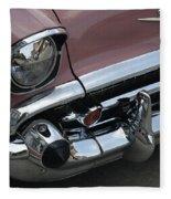 1957 Coral Chevy Bel Air Fleece Blanket