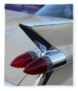 1958 Cadillac Tail Lights Fleece Blanket