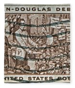1958 Lincoln-douglas Debates Stamp Fleece Blanket