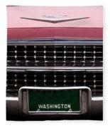 1959 Cadillac Convertible Fleece Blanket