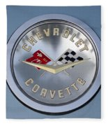 1959 Corvette Emblem Fleece Blanket