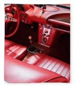 1960 Chevrolet Corvette Interior Fleece Blanket