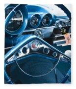 1960 Chevrolet Impala Steering Wheel Fleece Blanket