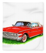 1960 Edsel Ranger Convertible Fleece Blanket