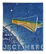 1962 Man In Space Stamp Fleece Blanket