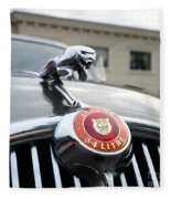 1963 Jaguar Emblem Fleece Blanket
