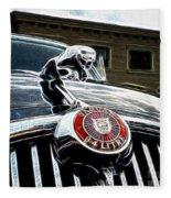 1963 Jaguar Mkii Fantasy Car Fleece Blanket