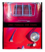 1963 Red Porsche S90 Coupe Poster S Fleece Blanket