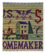 1964 Homemakers Five Cent Stamp Fleece Blanket