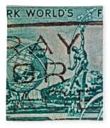 1964 New York World's Fair Stamp Fleece Blanket