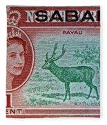 1964 North Borneo Sabah Stamp Fleece Blanket